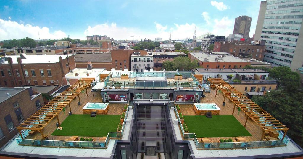 M蒙特利尔旅馆鸟瞰图