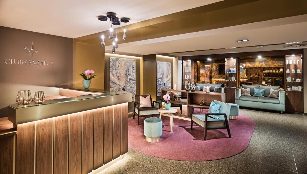汉堡凯悦公寓酒店大厅或接待区