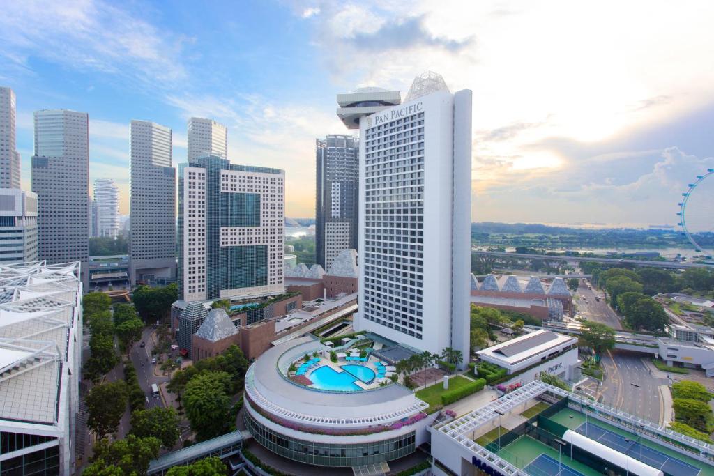 新加坡泛太平洋酒店鸟瞰图