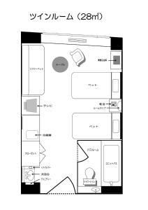 Shin Furano Prince Hotel平面图