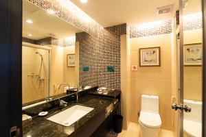 珠海骏德会酒店的一间浴室