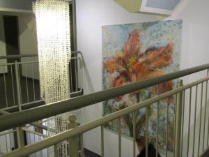 埃朗根艺术酒店的阳台或露台