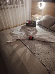 卡萨阿尔瓦利多旅馆客房内的一张或多张床位