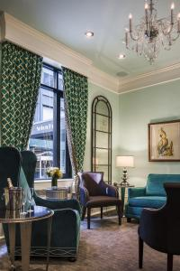 塞顿酒店的休息区
