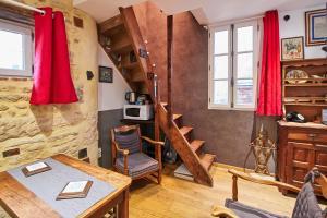 法国最小的房子度假屋的休息区