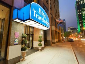 蒙特利尔市中心旅客之家酒店的门面或入口