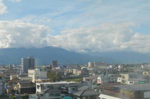 松本景观或在酒店看到的城市景观