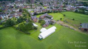 Parr Hall Farm鸟瞰图