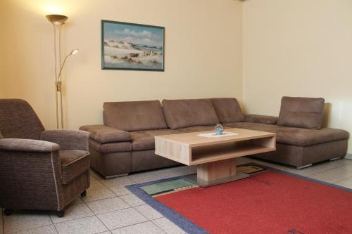 Ferienwohnungen im Gästehaus Sieberns的休息区