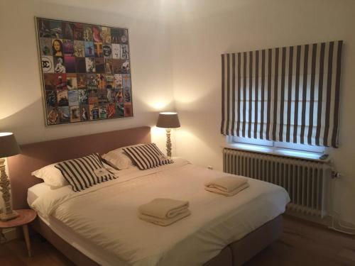 马斯特里赫特美城公寓客房内的一张或多张床位